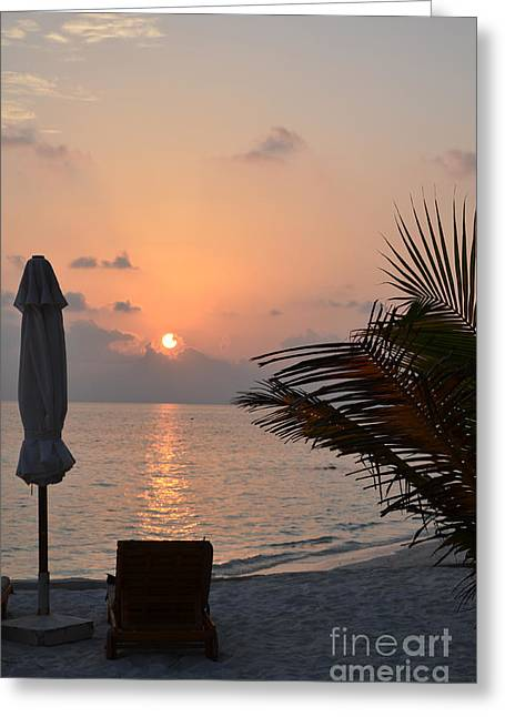 Beach Photos Greeting Cards - Greeting a New Day Greeting Card by Corinne Rhode