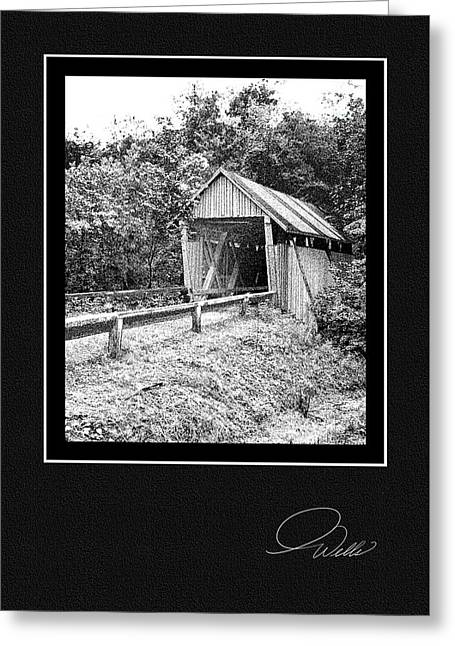 Historic Registry Mixed Media Greeting Cards - GREETING CARD - Campbells Covered Bridge - Architectural Renderings Greeting Card by Andrew Wells