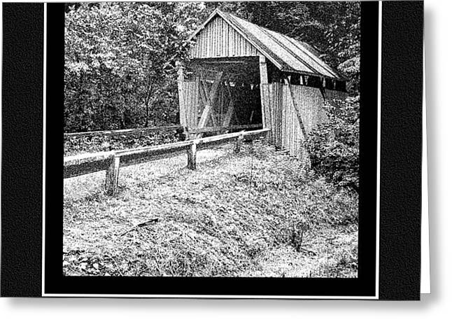 GREETING CARD - Campbell's Covered Bridge - Architectural Renderings Greeting Card by Andrew Wells