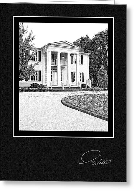 Historic Registry Mixed Media Greeting Cards - GREETING CARD - Cherrydale - Architectural Renderings Greeting Card by Andrew Wells