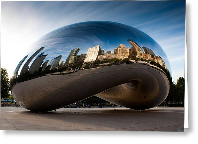 Chicago Reflections Greeting Cards - Greeting The Sun Greeting Card by Daniel Chen