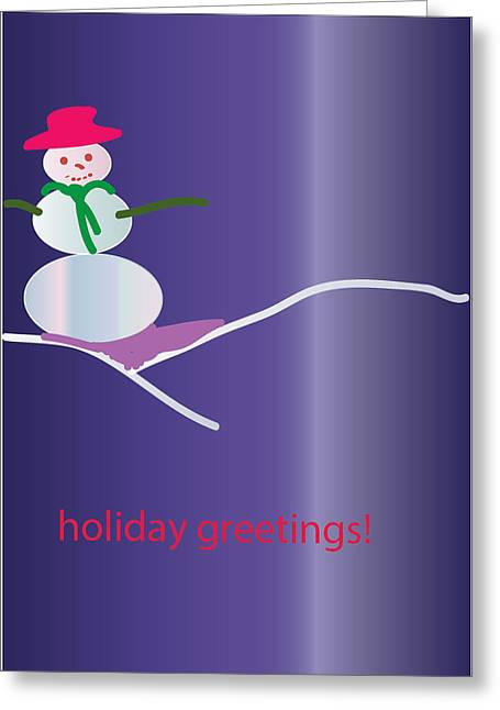 Postal Drawings Greeting Cards - Greetings 02 Greeting Card by Mireille Leduc