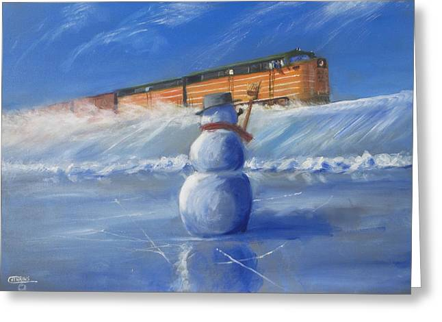 Freight Train Greeting Cards - Greetings Greeting Card by Christopher Jenkins