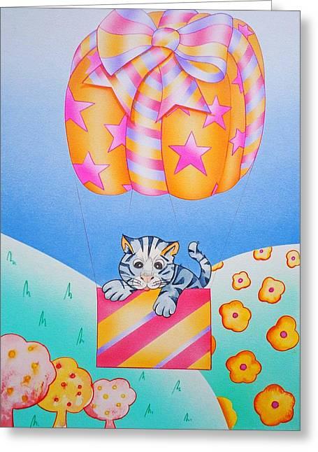 Kitten Sculptures Greeting Cards - Greetings Greeting Card by Virginia Stuart