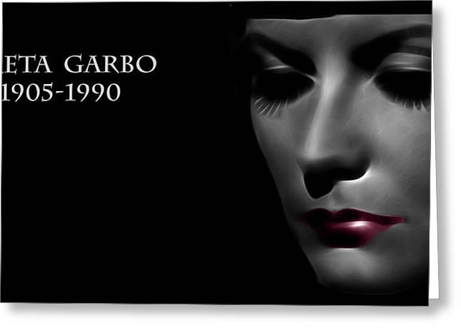 Greta Garbo 1905 1990 Greeting Card by Stefan Kuhn