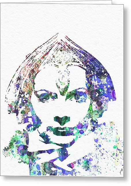 Movie Star Digital Greeting Cards - Greta Garbo Greeting Card by Naxart Studio