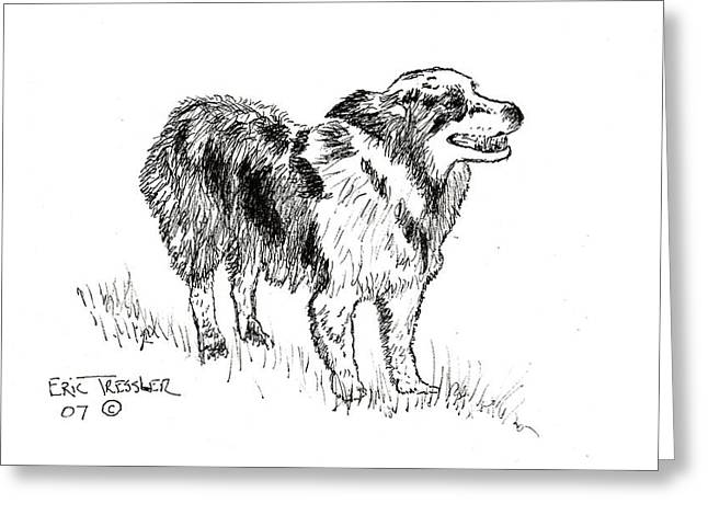 Pen And Ink Drawing Photographs Greeting Cards - Gretchens Smile Greeting Card by Eric Tressler