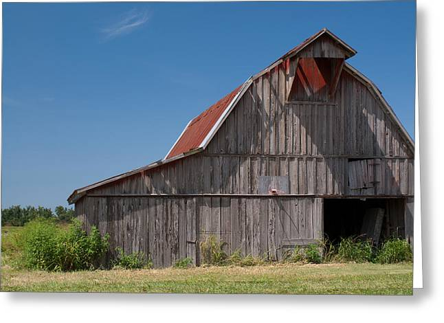 Arkansas Greeting Cards - Grey Barn Greeting Card by Douglas Barnett