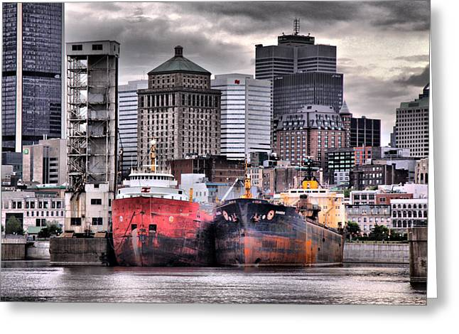 Montreal City Scapes Greeting Cards - Grey haven Greeting Card by Russell Styles