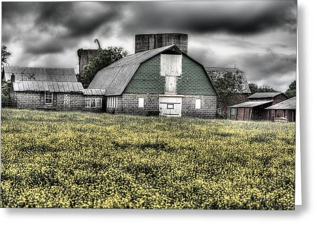 Midland Virginia Greeting Cards - Grey Scale Greeting Card by JC Findley