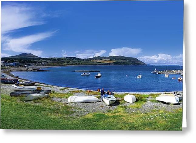 Ocean Panorama Greeting Cards - Greystones, Co Wicklow, Ireland Greeting Card by The Irish Image Collection