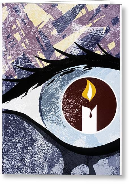 Tearful Greeting Cards - Grief Greeting Card by Paul Brown