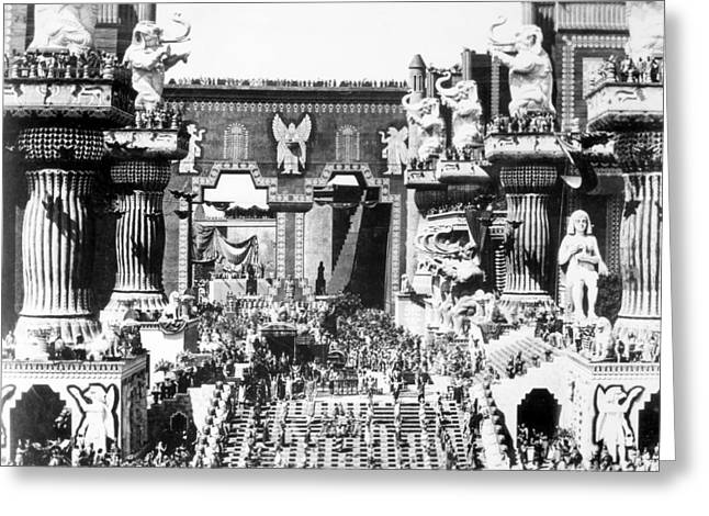 D.w. Photographs Greeting Cards - Griffith: Intolerance 1916 Greeting Card by Granger