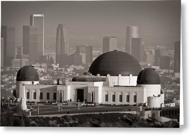 Observatory Greeting Cards - Griffith Observatory Greeting Card by Adam Romanowicz