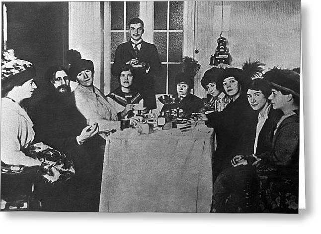 Russian Revolution Greeting Cards - Grigori Rasputin And His Female Admirers Greeting Card by Ria Novosti