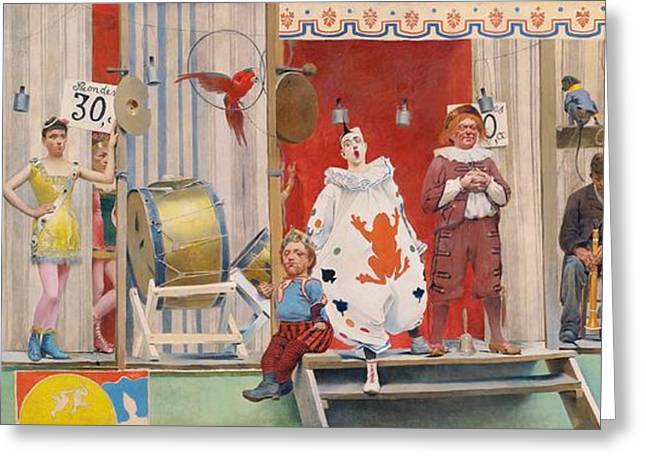 Conversations Greeting Cards - Grimaces et Miseres Greeting Card by Pg Reproductions