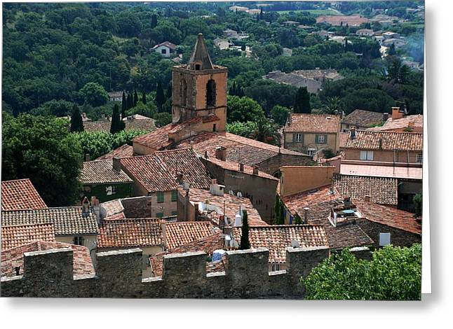 Provence Village Greeting Cards - Grimaud Greeting Card by Dany  Lison