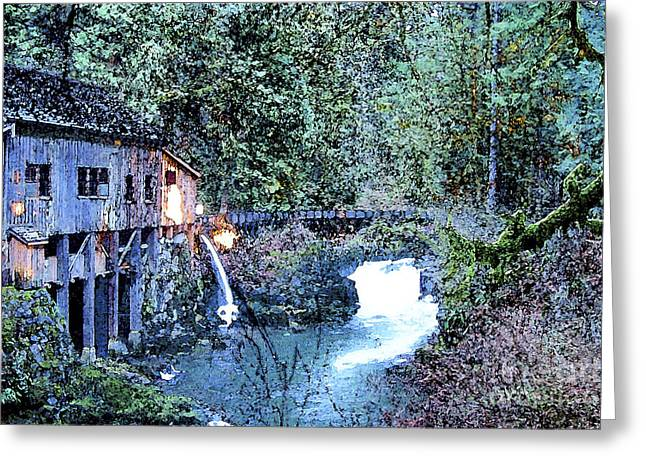 Griss Greeting Cards - Griss Mill Watercolor Greeting Card by Larry Keahey