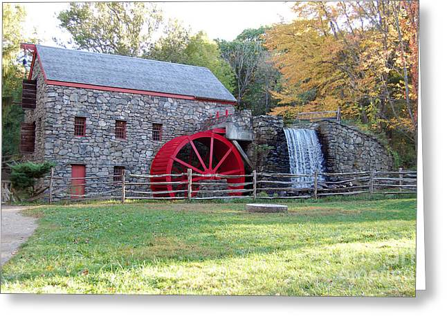 Grist Mill At Wayside Inn Greeting Card by John Small