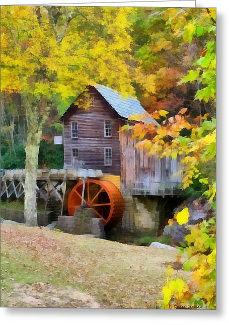 Grist Mill Greeting Card by Lynne Jenkins