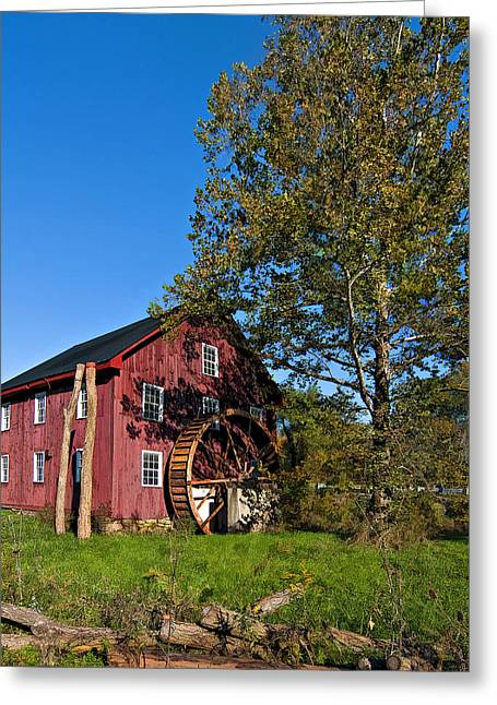 Grist Mill Digital Art Greeting Cards - Grist Mill painted Greeting Card by Steve Harrington