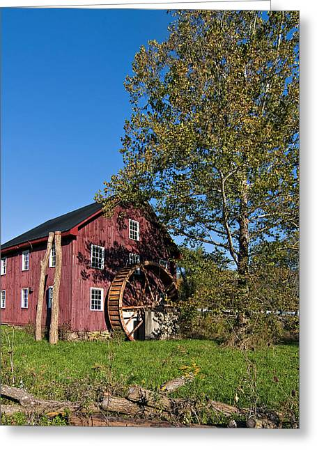 Old West Photography Greeting Cards - Grist Mill Greeting Card by Steve Harrington