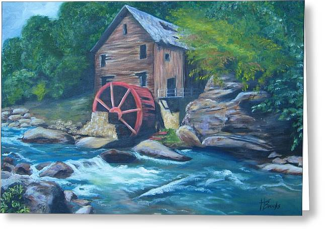 Grist Mill Greeting Card by Tersia Brooks