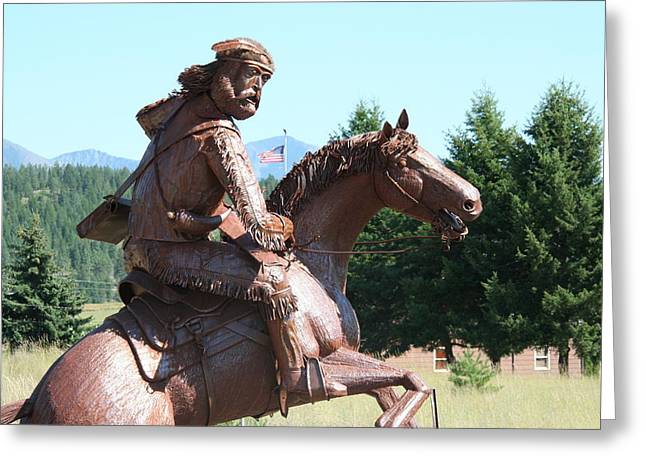 Steel Sculptures Greeting Cards - Grizzly Jack of the Rockies Greeting Card by Alan Derber
