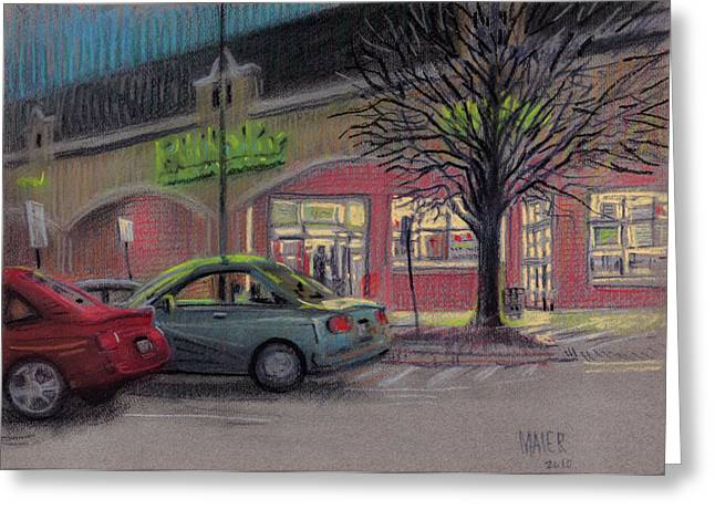 Car Pastels Greeting Cards - Grocery Shopping Greeting Card by Donald Maier