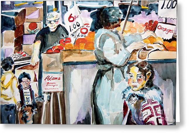 Grocery Shopping Greeting Card by Mindy Newman