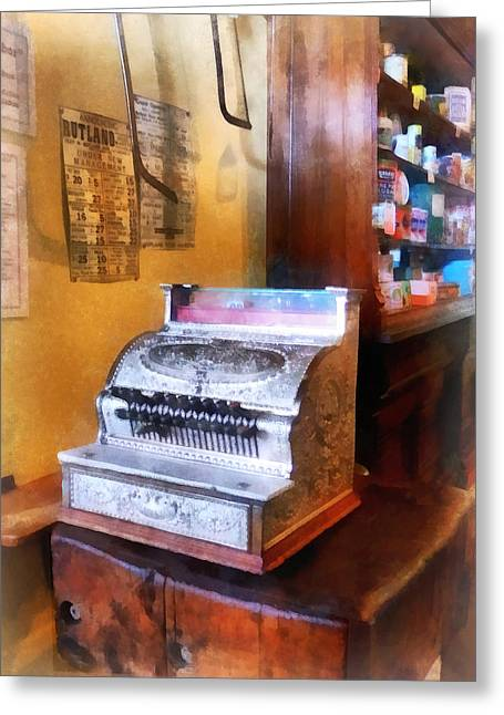 Cookies Greeting Cards - Grocery Store Cash Register Greeting Card by Susan Savad