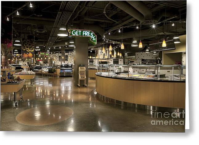 Grocery Store Greeting Cards - Grocery Store Deli Greeting Card by Robert Pisano