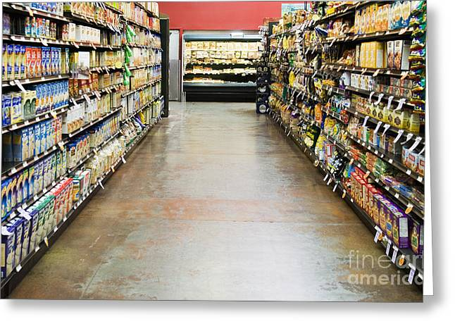 Grocery Store Greeting Cards - Grocery Store Isle Greeting Card by Andersen Ross