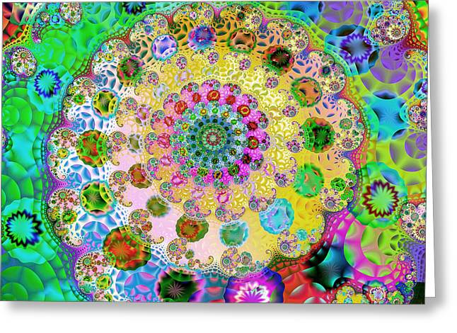 Groovy Greeting Card by Sharon Lisa Clarke