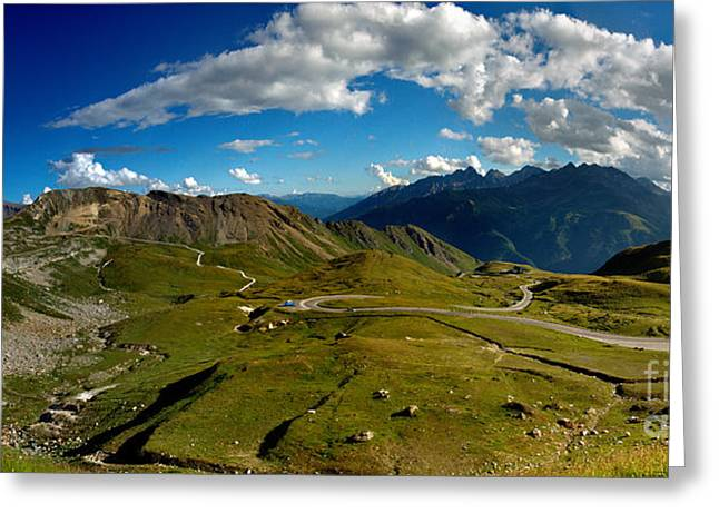 Alps Greeting Cards - Grossglockner High Alpine Road Greeting Card by Nailia Schwarz