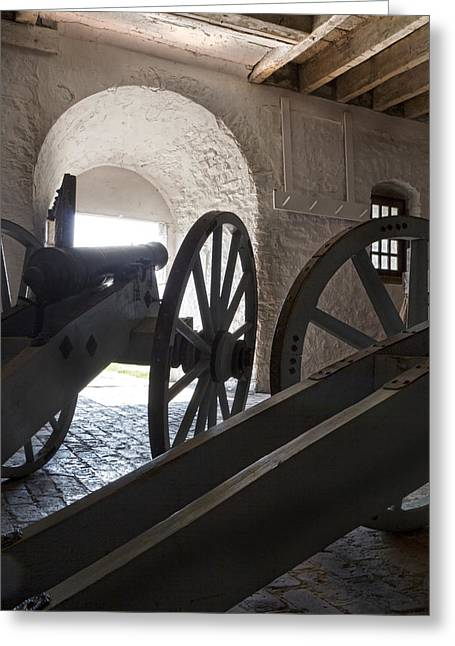 Ground Floor Cannons Greeting Card by Peter Chilelli