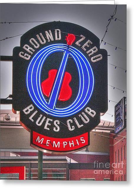 Blues Club Greeting Cards - Ground Zero Greeting Card by David Bearden