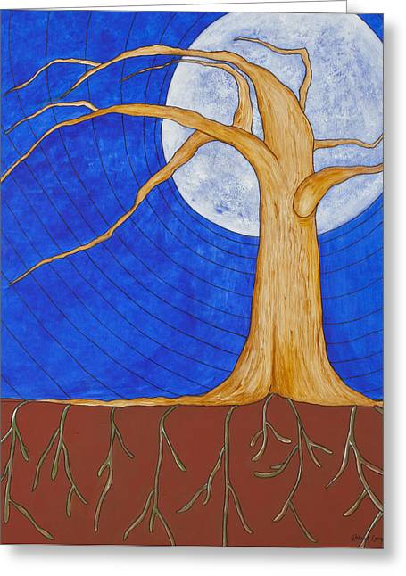 Tree Roots Paintings Greeting Cards - Grounded Greeting Card by Deborah Langlois