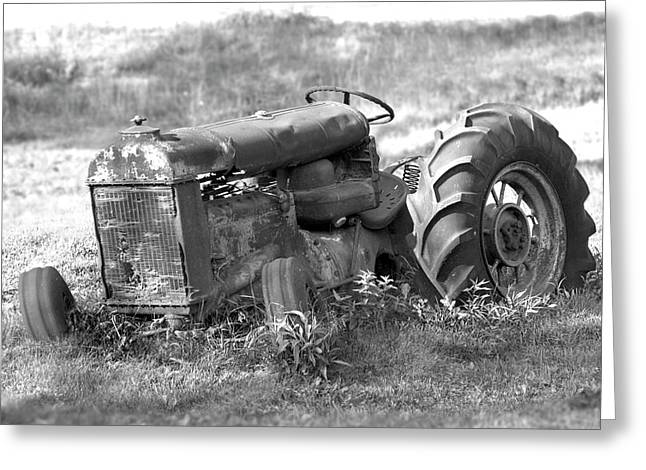 Tractors Greeting Cards - Grounded Greeting Card by Mike McGlothlen