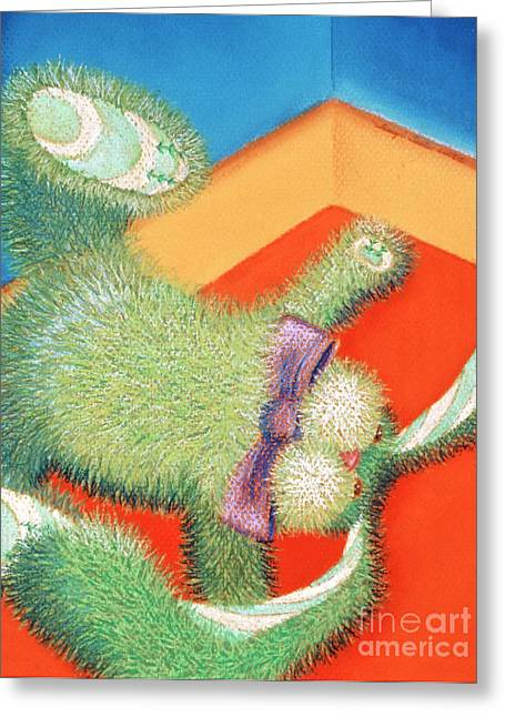 Rabbit Pastels Greeting Cards - Grounded Greeting Card by Tracy L Teeter
