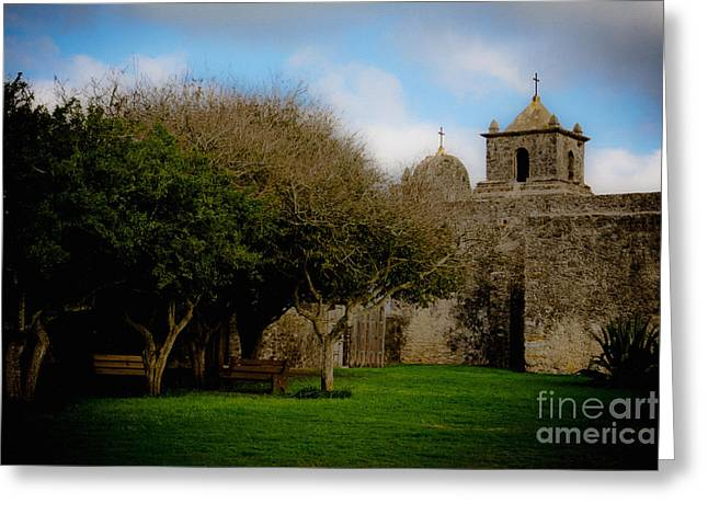 Goliad Texas Greeting Cards - Grounds of Persidio LaBahia Greeting Card by Kim Henderson