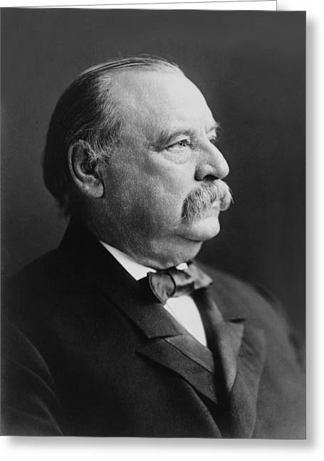 American Politician Greeting Cards - Grover Cleveland - President of the United States Greeting Card by International  Images