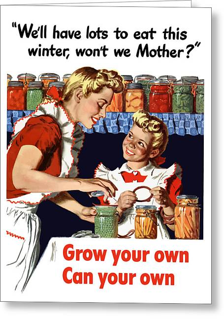 Gardening Greeting Cards - Grow Your Own Can Your Own  Greeting Card by War Is Hell Store