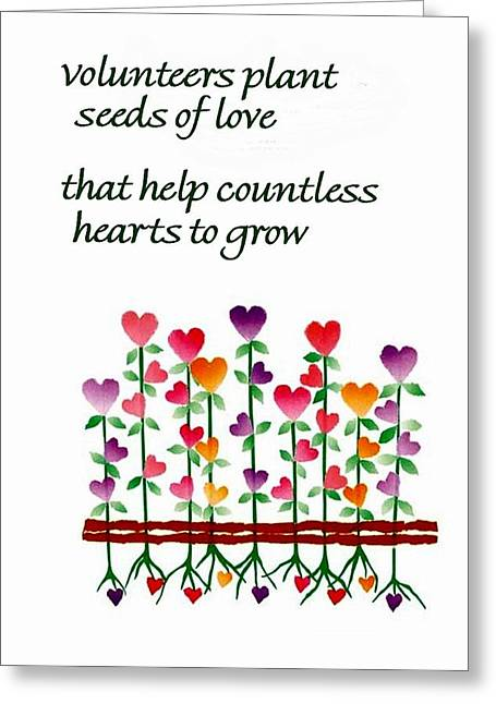 Appreciation Greeting Cards - Growing Hearts Greeting Card by Karon Melillo DeVega