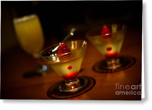 Ice Wine Greeting Cards - Grown-Up Jello Greeting Card by Venetta Archer
