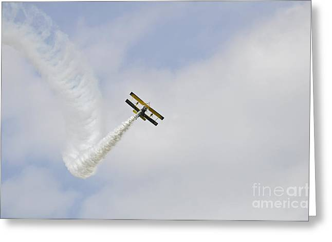 Event Pyrography Greeting Cards - Grumman AG 164 Wingwalker Greeting Card by Conny Sjostrom