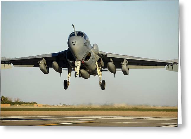 Grumman Ea-6b Prowler Buno 164402 Naf El Centro On October 24 2012 Greeting Card by Brian Lockett