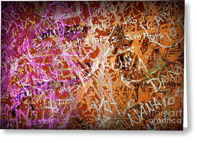 Mural Photographs Greeting Cards - Grunge Background 3 Greeting Card by Carlos Caetano