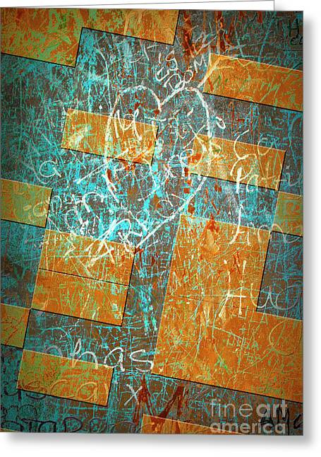 Vandalize Photographs Greeting Cards - Grunge Background 6 Greeting Card by Carlos Caetano