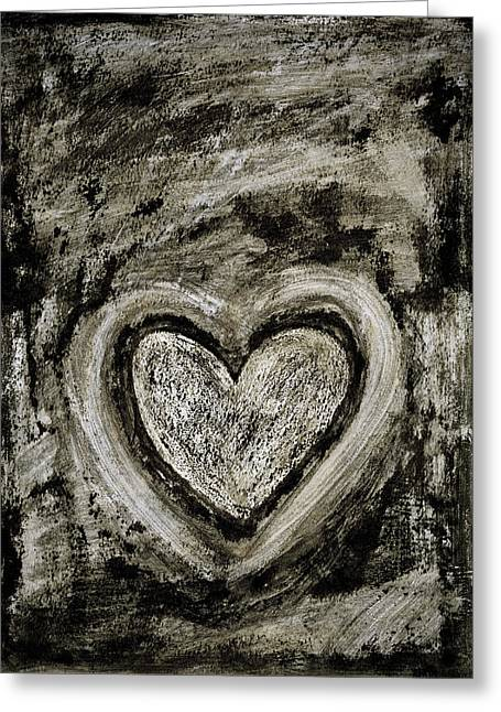Gay Relationship Greeting Cards - Grunge Heart Greeting Card by Frank Tschakert